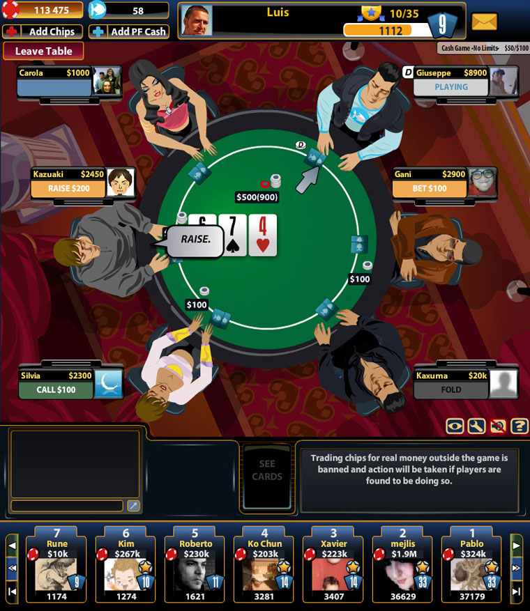 practice your poker for free